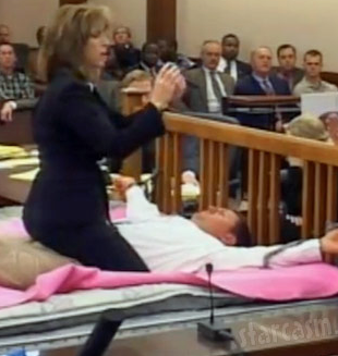 Susan Wright Kathy Siegler bed in courtroom