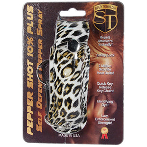 Pepper Shot 1/2 oz Soft Case Leopard Print