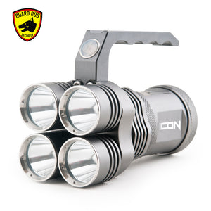 ICON 3000 lumen ultra bright (4 light functions) rechargeable tactical flashlight