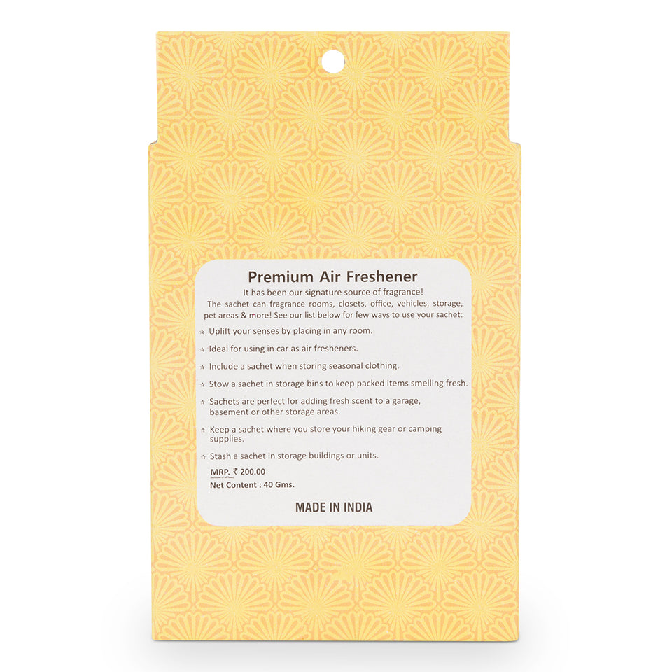 Air Perfume/Air Fresheners Pouch Bag for Office/Room/Car/Toilet and Wardrobe (Pouch Pack 40 gm) (Fresh Jasmine)