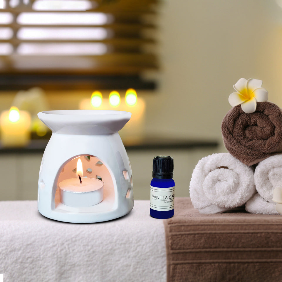 AuraDecor Aroma Diffuser Gift Set with Aroma Oil 10ml & 2 Tealight Candle