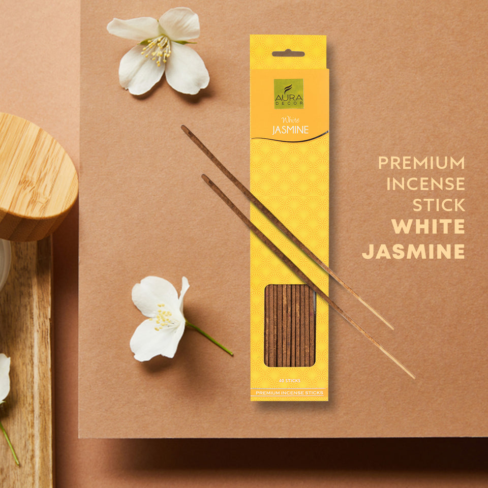 White Jasmine Aroma Incense Sticks ( 40 Sticks )