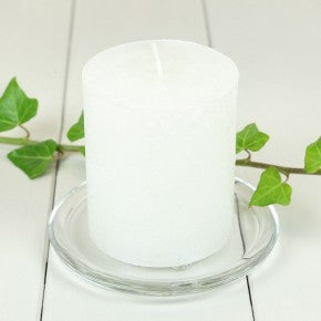 AuraDecor 3 inch & 4 inch Dia White Unscented Pillar Candle ( 3 inch Dia & 4 Inch )
