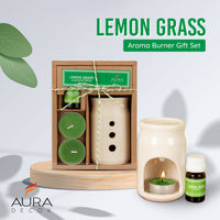 AuraDecor Aroma Oil Burner Gift Set  ( Lemon Grass )