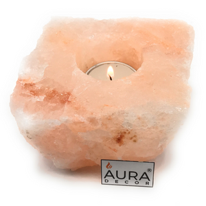 AuraDecor Salt Lamp with a Tealight - auradecor.co.in