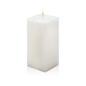 AuraDecor 3*6*3 Inch Rectangle Candle White Unscented