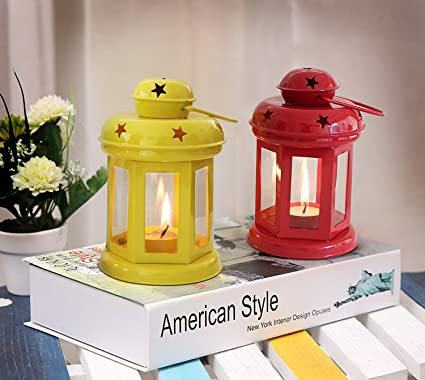 AuraDecor Set of 2 Assorted Lantern Tealight Holder