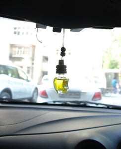 Apple Shape Car Freshener ( Lemon Fragrance ) - auradecor.co.in