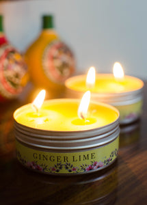 2 Wick Candle Set (Ginger Lime) - auradecor.co.in
