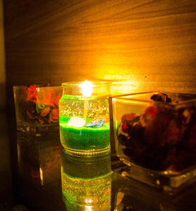 Gel Jar Candles ( Green ) - auradecor.co.in