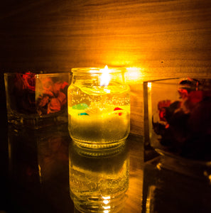 Gel Jar Candles ( Yellow ) - auradecor.co.in