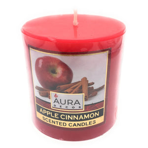 AuraDecor 3*3 Apple Cinnamon Scent Pillar Candle - auradecor.co.in