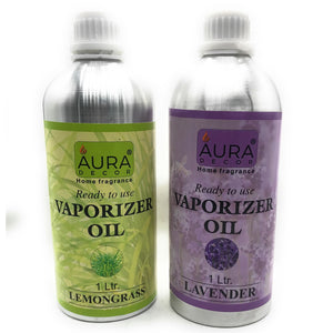 AuraDecor Pack of 2 Lemongrass & Lavender Vaporiser Oil 1 ltr each - auradecor.co.in