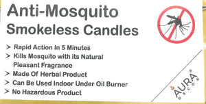 Anti Mosquito Tealight Candles Pack of 50 - auradecor.co.in