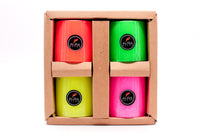 Set of 4 Fluroscent Pillar Candles - auradecor.co.in