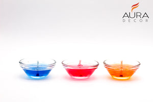 Set of 3 Gel Candles ( Assorted Colours )