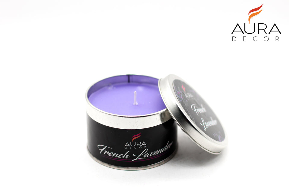 Tin Candle (Lavender) - auradecor.co.in