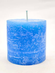 AuraDecor Fragrance Pillar Candle 3*3 inch ( Rustic Finish )