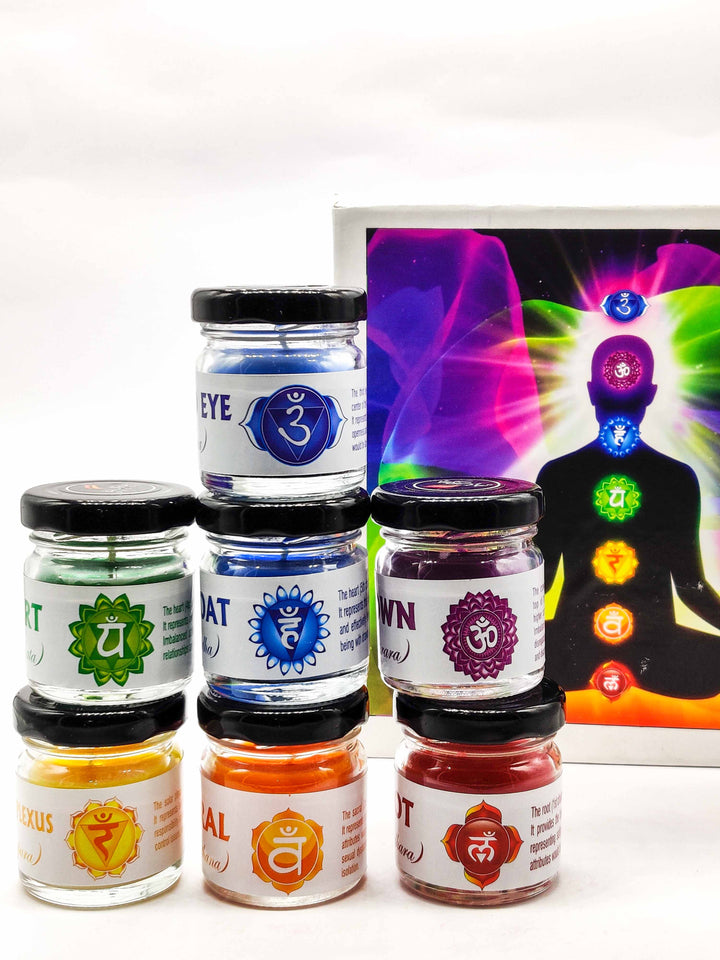 AuraDecor 7 Chakra Candles ( Gift Pack )