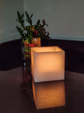 AuraDecor 3*3*3 Inch White Hollow Square Candle