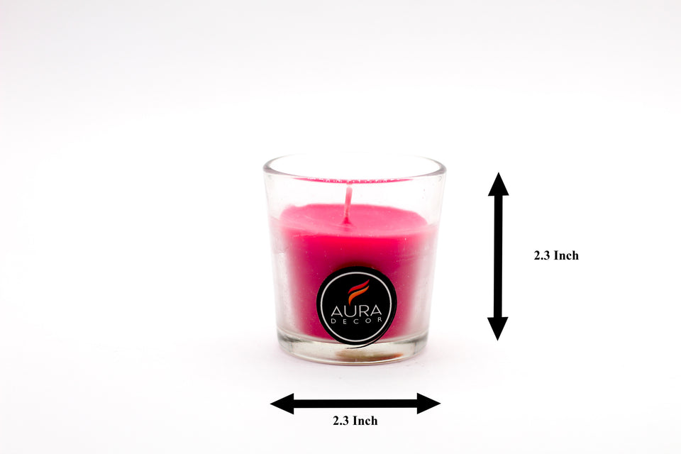 Pink Votive Candle in a Glass