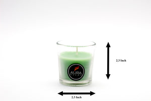 Green Glass Votive Candle AuraDecor