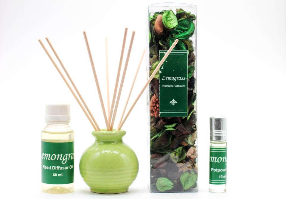 Reed Diffuser Gift Set with Potpourri - auradecor.co.in