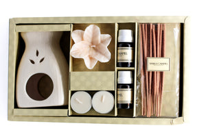 Aroma Diffuser Gift Set with Incense Sticks & Floating Candles - auradecor.co.in