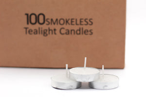 Pack of 100 Tealight Candles ( Burning Time 2.5 Hours ) - auradecor.co.in