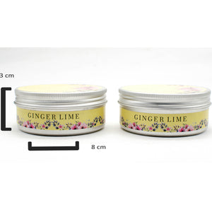 AuraDecor Set of 2, Double Wick Tin Candle Burning Time 25 hours - auradecor.co.in