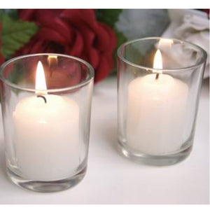 Set of 6 Glass Votive Candles - auradecor.co.in