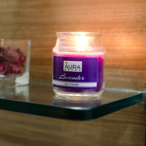 AuraDecor Set of 4 Highly Fragrance Jar Candle Burning Time 30 Hours Each - auradecor.co.in