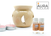 Aroma Oil Burner Gift Set ( Medium ) - auradecor.co.in