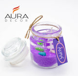 Gel Jar Candles ( Purple  ) - auradecor.co.in