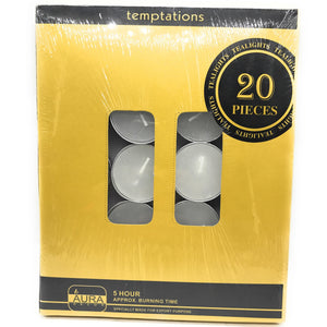 5 Hour Burning Tealight Candle ( Pack of 20 ) - auradecor.co.in