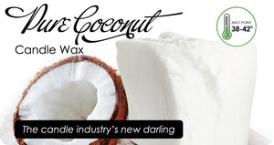 Auradecor Coconut Wax for Candle Making Odourless
