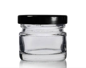 AuraDecor Small Jar 30 ml Twist Off Lid ( Black )