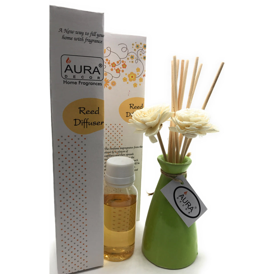 Reed Diffuser Gift Set Meditation Fragrance - auradecor.co.in