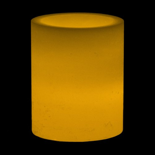 AuraDecor 4*4 Inch White Hollow Cylinderical Candle