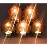 AuraDecor Set of 5 Eye Shape Wall Hanging Tealight Holder with free Tealights - auradecor.co.in