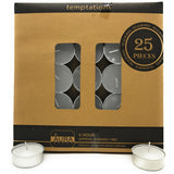 AuraDecor Set of 50 Unscented Tealight Candles Burning time 5 hours - auradecor.co.in
