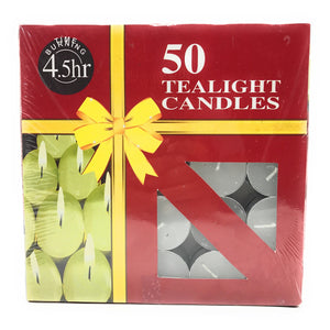 AuraDecor Pack of 100 Tealight Candles - auradecor.co.in