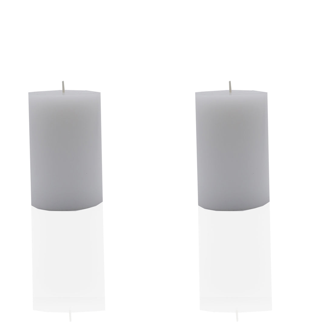 AuraDecor Set of 2 Pillar Candles ( 3*4 ) - auradecor.co.in