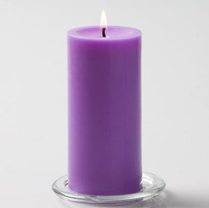 AuraDecor 3*6 lavender Fragrance Pillar Candle