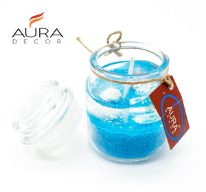 Gel Jar Candles ( Blue  ) - auradecor.co.in
