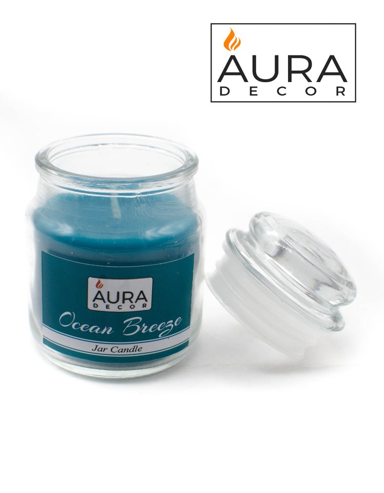 Sea Breeze Lid Jar Candle - auradecor.co.in