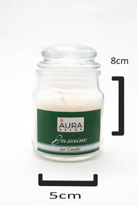 Jasmine Lid Jar Candle - auradecor.co.in