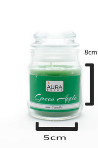 Green Apple Lid Jar Candle - auradecor.co.in