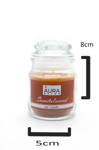 Sandal Wood Lid Jar Candle - auradecor.co.in