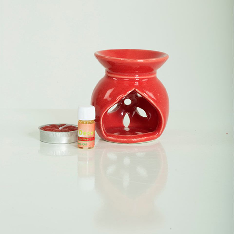 Aroma Oil Burner Gift Set ( Small ) - auradecor.co.in
